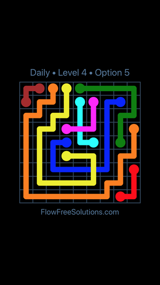 Solution and Answer to the Puzzle for Bridges Date Monday, April 16, 2018 Level 4