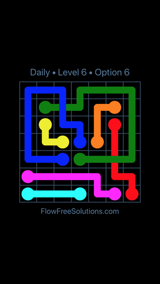 Solution and Answer to the Puzzle for Bridges Date Thursday, June 16, 2016 Level 6