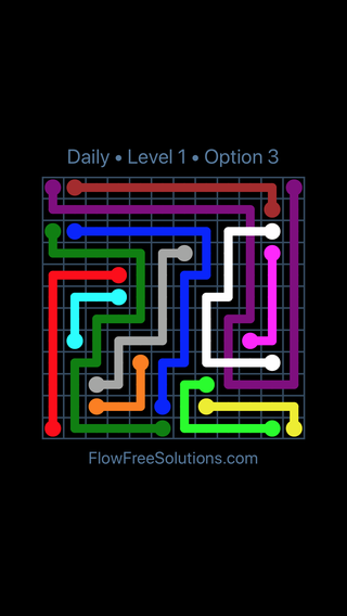 Solution and Answer to the Puzzle for Bridges Date Sunday, October 7, 2018 Level 1