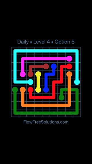 Solution and Answer to the Puzzle for Bridges Date Tuesday, September 10, 2019 Level 4