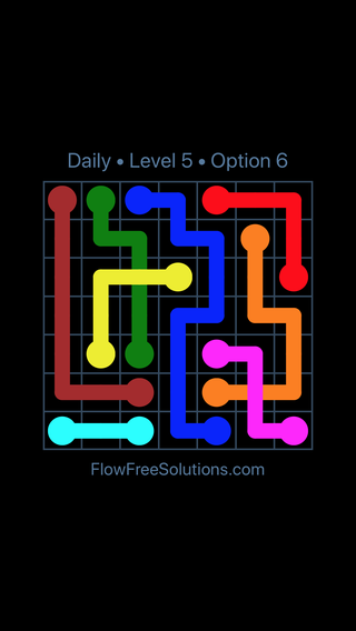 Solution and Answer to the Puzzle for Bridges Date Saturday, October 13, 2018 Level 5
