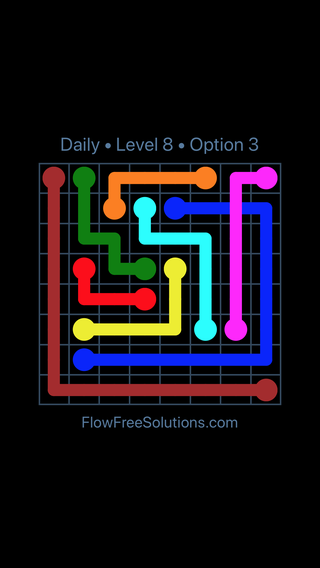 Solution and Answer to the Puzzle for Bridges Date Saturday, April 2, 2016 Level 8