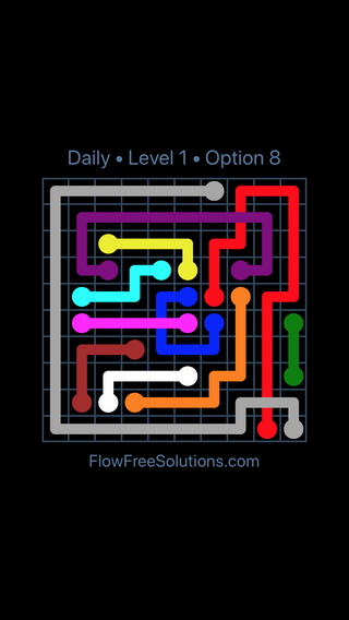 Solution and Answer to the Puzzle for Bridges Date Tuesday, January 8, 2019 Level 1