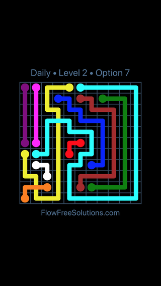 Solution and Answer to the Puzzle for Bridges Date Tuesday, January 8, 2019 Level 2