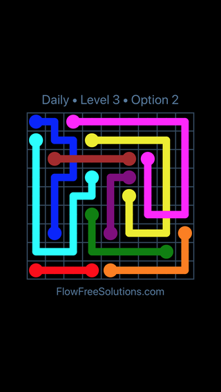 Solution and Answer to the Puzzle for Bridges Date Tuesday, April 5, 2016 Level 3
