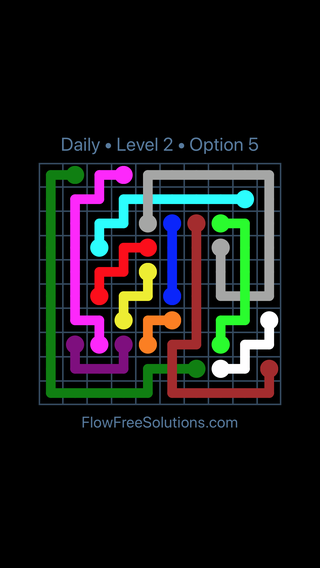 Solution and Answer to the Puzzle for Bridges Date Thursday, April 7, 2016 Level 2