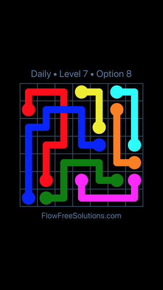 Solution and Answer to the Puzzle for Bridges Date Saturday, April 9, 2016 Level 7