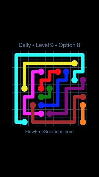 Solution and Answer to the Puzzle for Bridges Date Saturday, January 12, 2019 Level 9