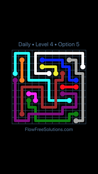 Solution and Answer to the Puzzle for Bridges Date Tuesday, April 12, 2016 Level 4