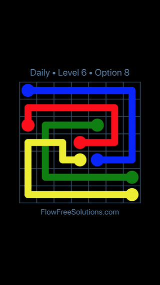 Solution and Answer to the Puzzle for Bridges Date Thursday, February 15, 2018 Level 6