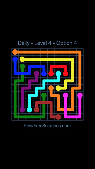 Solution and Answer to the Puzzle for Bridges Date Saturday, May 12, 2018 Level 4
