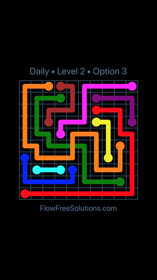 Solution and Answer to the Puzzle for Bridges Date Sunday, August 5, 2018 Level 2