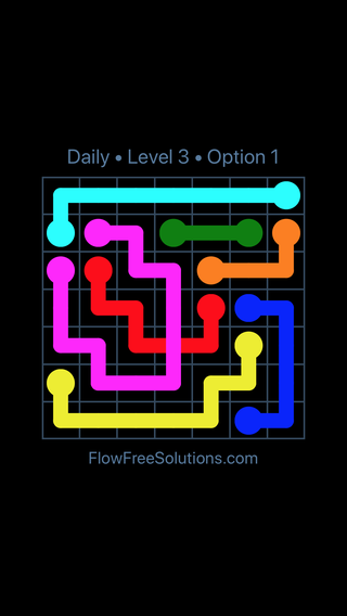 Solution and Answer to the Puzzle for Bridges Date Tuesday, April 19, 2016 Level 3