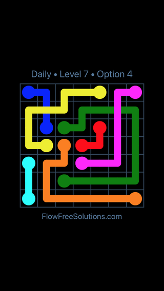 Solution and Answer to the Puzzle for Bridges Date Tuesday, April 26, 2016 Level 7