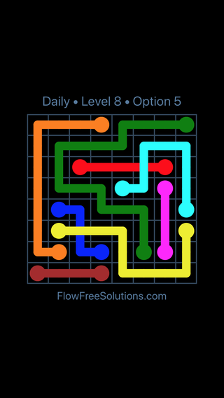 Solution and Answer to the Puzzle for Bridges Date Tuesday, July 19, 2016 Level 8