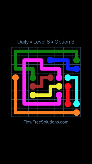 Solution and Answer to the Puzzle for Bridges Date Wednesday, November 7, 2018 Level 8