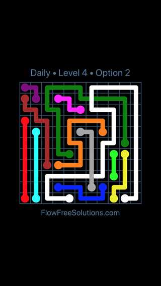 Solution and Answer to the Puzzle for Bridges Date Tuesday, July 26, 2016 Level 4