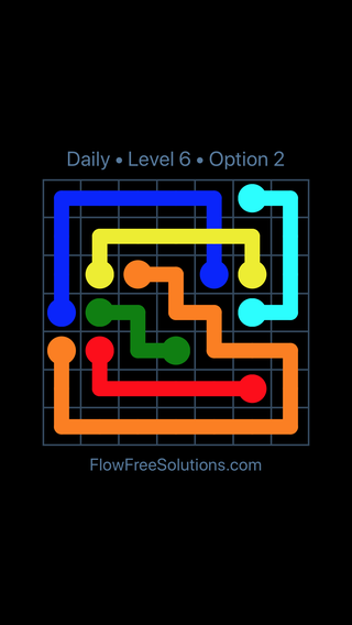 Solution and Answer to the Puzzle for Bridges Date Tuesday, August 2, 2016 Level 6