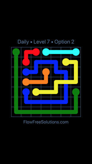 Solution and Answer to the Puzzle for Bridges Date Tuesday, May 10, 2016 Level 7