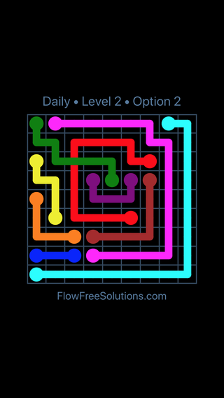 Solution and Answer to the Puzzle for Bridges Date Wednesday, May 11, 2016 Level 2
