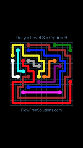 Solution and Answer to the Puzzle for Bridges Date Wednesday, August 3, 2016 Level 3