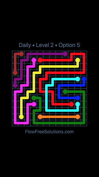 Solution and Answer to the Puzzle for Bridges Date Sunday, June 5, 2016 Level 2