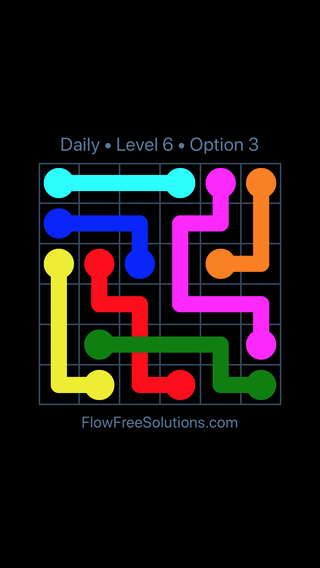Solution and Answer to the Puzzle for Bridges Date Sunday, May 15, 2016 Level 6