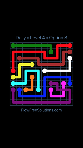 Solution and Answer to the Puzzle for Bridges Date Saturday, August 10, 2019 Level 4