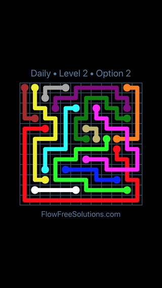 Solution and Answer to the Puzzle for Bridges Date Sunday, August 14, 2016 Level 2