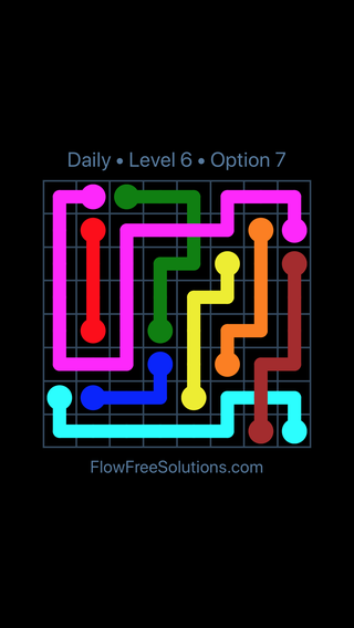 Solution and Answer to the Puzzle for Bridges Date Monday, August 12, 2019 Level 6
