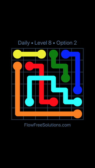 Solution and Answer to the Puzzle for Bridges Date Tuesday, May 24, 2016 Level 8