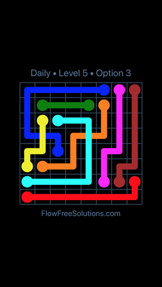 Solution and Answer to the Puzzle for Bridges Date Wednesday, May 25, 2016 Level 5