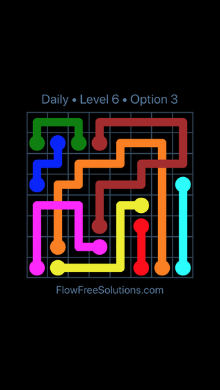 Solution and Answer to the Puzzle for Bridges Date Thursday, August 15, 2019 Level 6