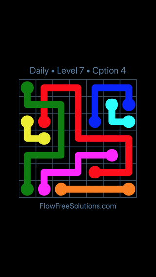 Solution and Answer to the Puzzle for Bridges Date Tuesday, March 15, 2016 Level 7