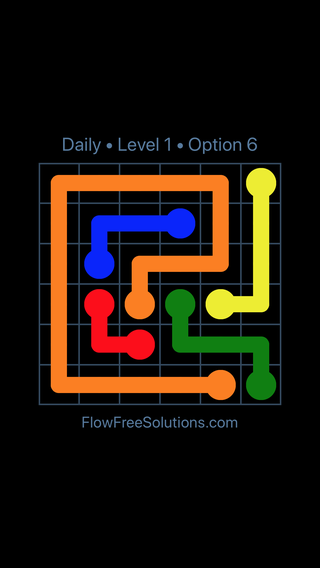 Solution and Answer to the Puzzle for Flow Date Monday, January 8, 2018 Level 1