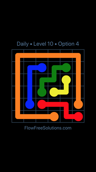 Solution and Answer to the Puzzle for Flow Date Monday, March 7, 2016 Level 10