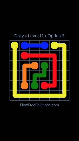Solution and Answer to the Puzzle for Flow Date Monday, May 30, 2016 Level 11