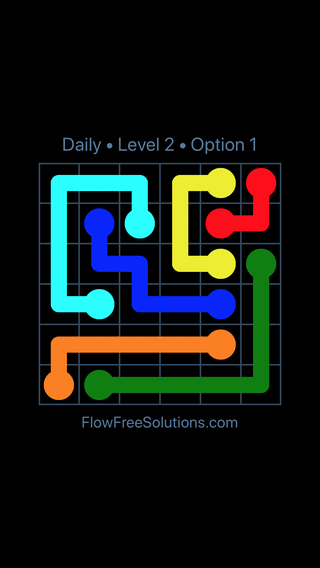 Solution and Answer to the Puzzle for Flow Date Monday, March 7, 2016 Level 2