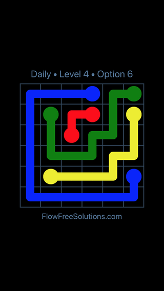 Solution and Answer to the Puzzle for Flow Date Monday, January 8, 2018 Level 4