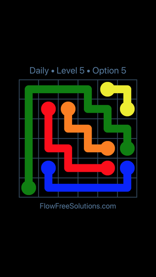 Solution and Answer to the Puzzle for Flow Date Monday, March 7, 2016 Level 5