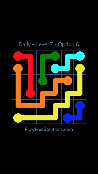 Solution and Answer to the Puzzle for Flow Date Monday, March 7, 2016 Level 7