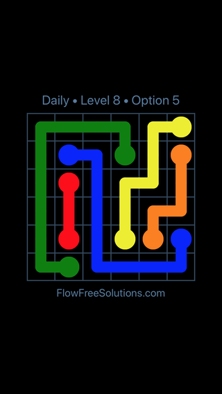 Solution and Answer to the Puzzle for Flow Date Monday, May 30, 2016 Level 8