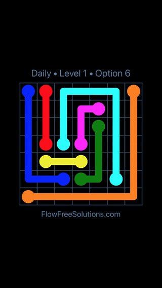 Solution and Answer to the Puzzle for Flow Date Wednesday, June 8, 2016 Level 1