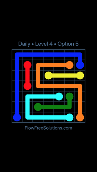 Solution and Answer to the Puzzle for Flow Date Wednesday, June 8, 2016 Level 4