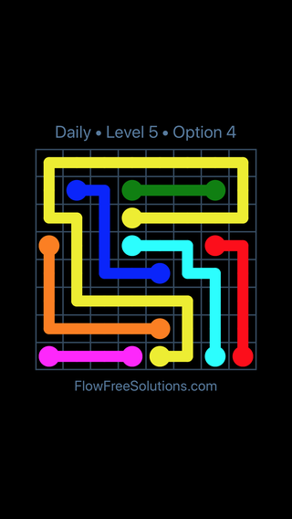 Solution and Answer to the Puzzle for Flow Date Wednesday, June 8, 2016 Level 5