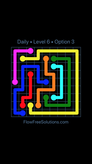 Solution and Answer to the Puzzle for Flow Date Wednesday, June 8, 2016 Level 6