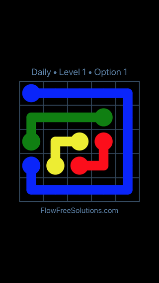 Solution and Answer to the Puzzle for Flow Date Thursday, March 17, 2016 Level 1