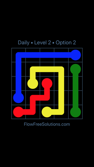 Solution and Answer to the Puzzle for Flow Date Thursday, June 9, 2016 Level 2