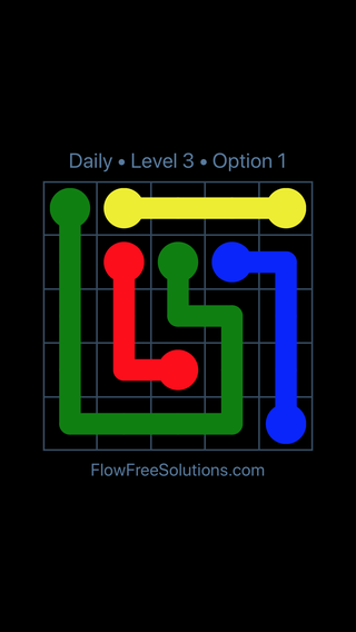 Solution and Answer to the Puzzle for Flow Date Thursday, March 17, 2016 Level 3