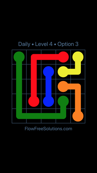 Solution and Answer to the Puzzle for Flow Date Thursday, March 17, 2016 Level 4